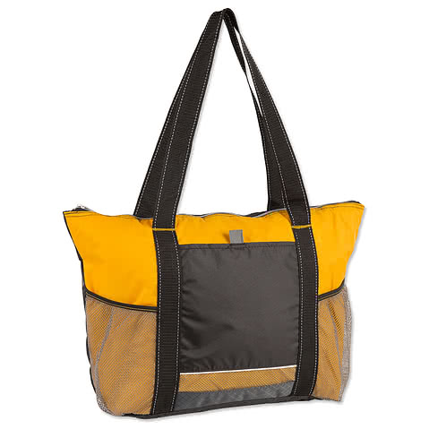 Colorblock Zippered Insulated Cooler Tote