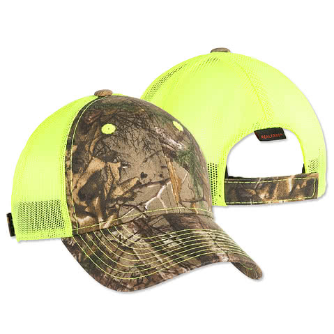 Outdoor Cap Neon Camo Trucker Hat