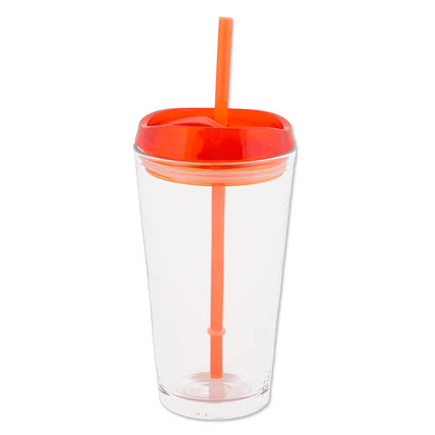 16 oz. Removable Lid Pint Glass