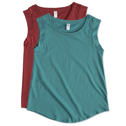 Alternative Apparel Juniors Cap Sleeve Muscle Tank