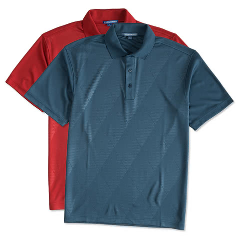 Port Authority Embossed Performance Polo