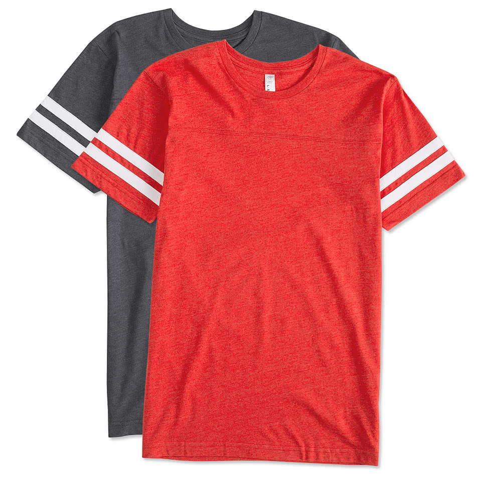 Design lat varsity t shirts online at customink for The red t shirt company