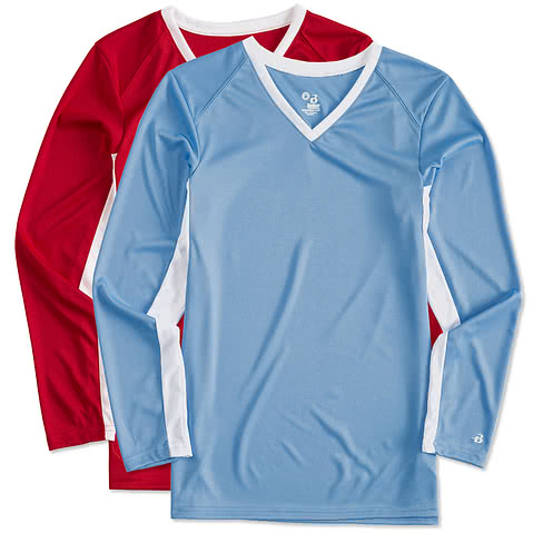 Badger Ladies Colorblock Long Sleeve Volleyball Jersey