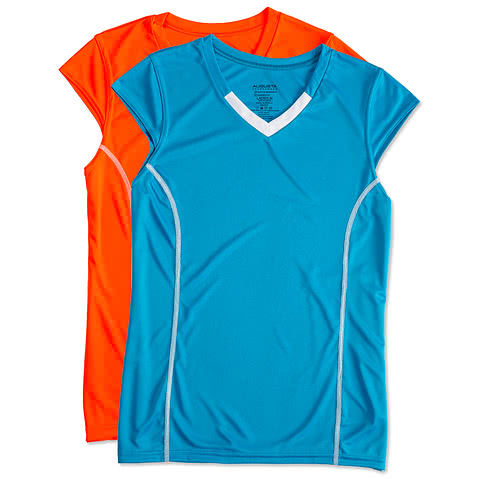 Augusta Ladies Contrast V-Neck Volleyball Jersey