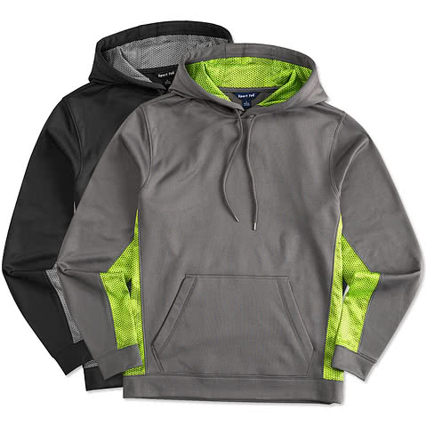 Sport-Tek CamoHex Colorblock Performance Hooded Sweatshirt
