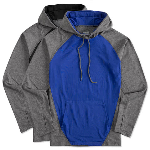 Augusta Colorblock Performance Hooded Sweatshirt
