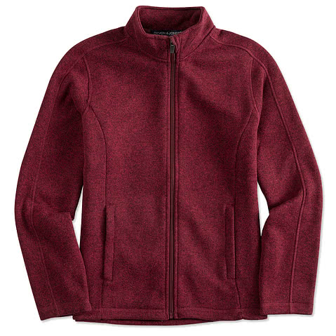 Devon & Jones Ladies Full-Zip Sweater Fleece Jacket