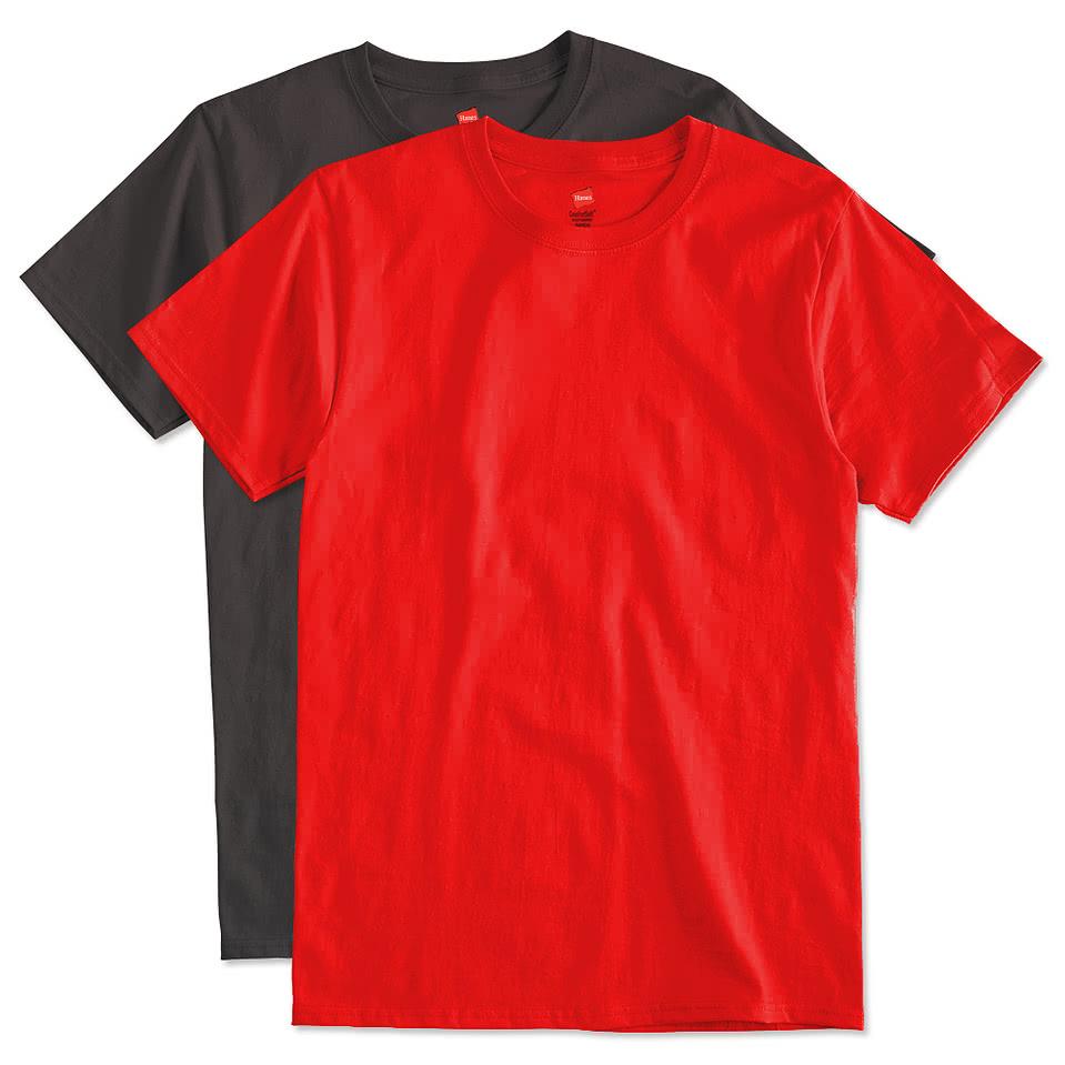 Design custom printed hanes comfortsoft lightweight for Make custom shirts online