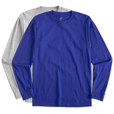 Hanes 100% Cotton Long Sleeve T-shirt