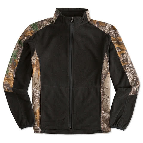 Port Authority Camo Full-Zip Microfleece Jacket