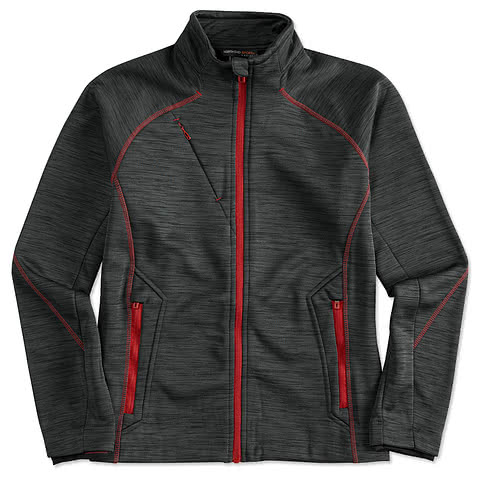North End Ladies Melange Tech Fleece Lined Jacket