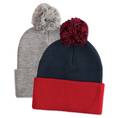 Sportsman Pom Pom Knit Hat