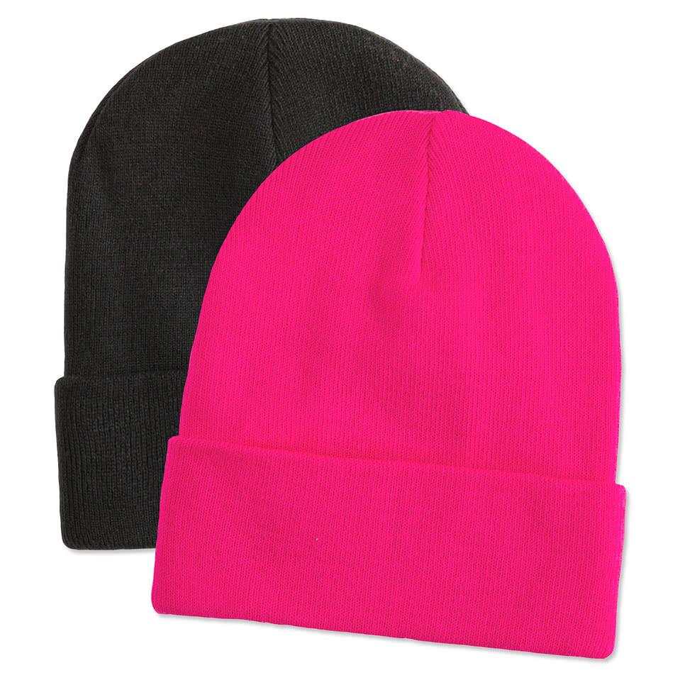 Custom Men Plain Winter Hat Embroidered Beanies