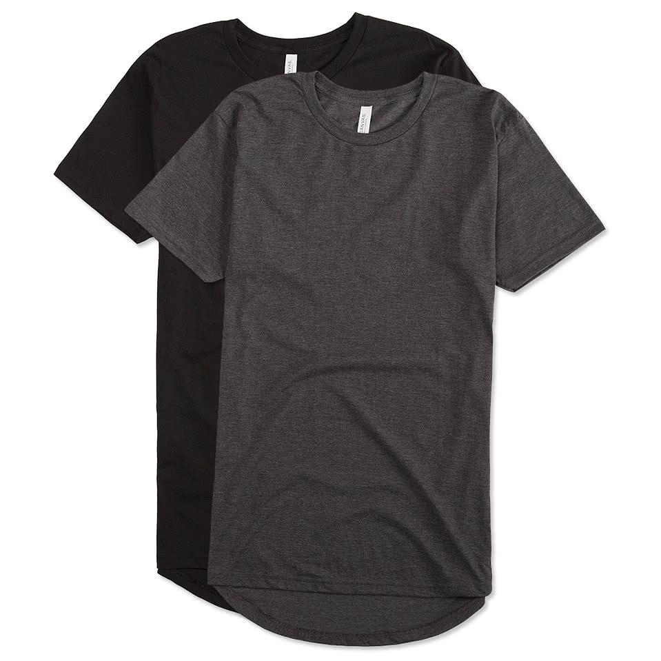 Shirt design on sleeve - Canvas Urban Longer Length T Shirt