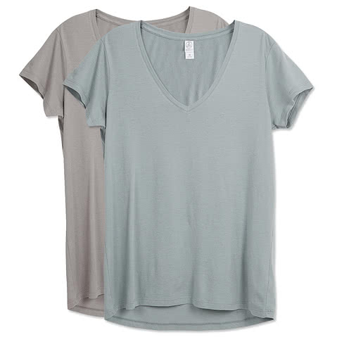 Alternative Apparel Ladies Relaxed V-Neck T-shirt