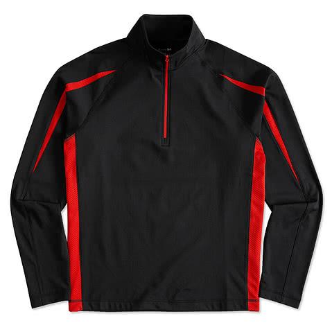 Sport-Tek Contrast Performance Half-Zip Pullover