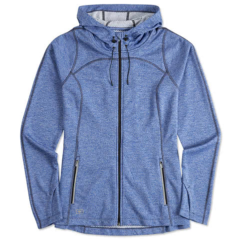 Ogio Endurance Ladies Reflective Heather Performance Full-Zip