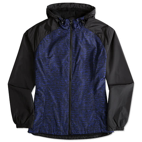Sport-Tek Ladies Heather Raglan Hooded Full-Zip Jacket