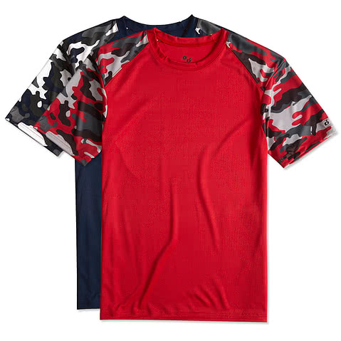 Badger Camo Sleeve Performance Shirt