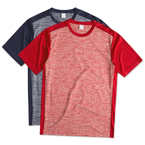 Sport-Tek Posicharge® Electric Heather Colorblock Performance Shirt