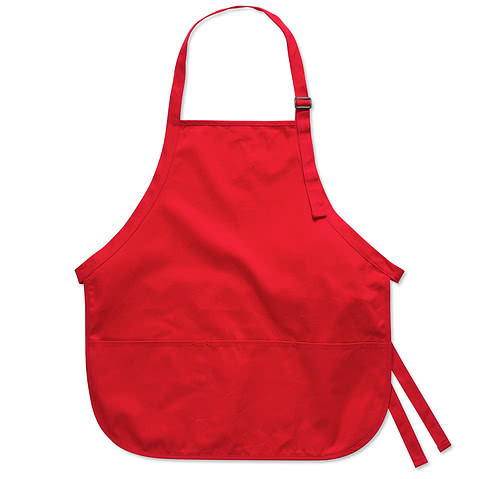 Port Authority Stain Release Medium Length Apron - Screen Printed