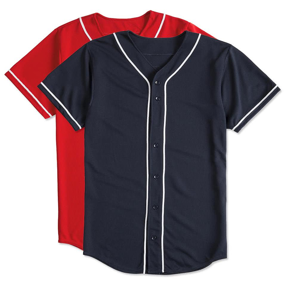 Design custom printedaugusta wicking mesh contrast trim for Custom baseball shirts no minimum