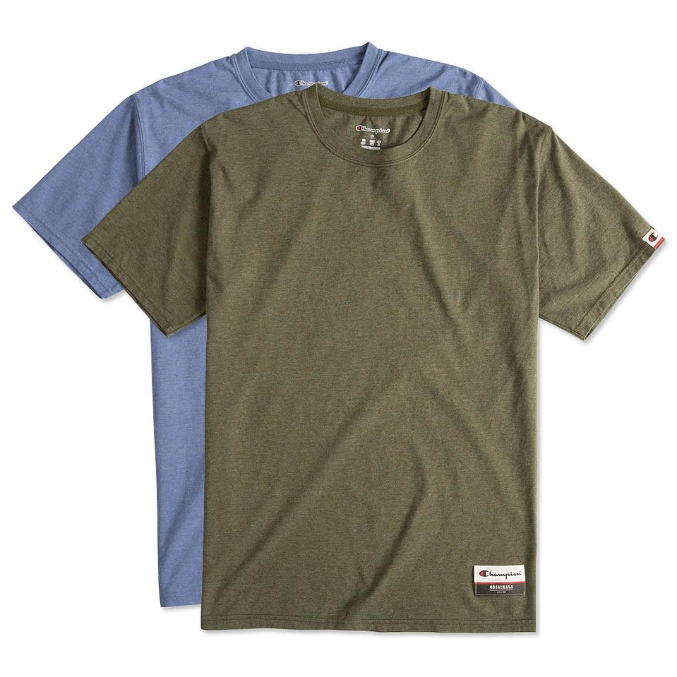 Shirt design on sleeve - Champion Authentic Soft Wash T Shirt