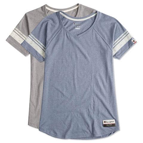 Champion Authentic Womens Tri-Blend Varsity T-shirt