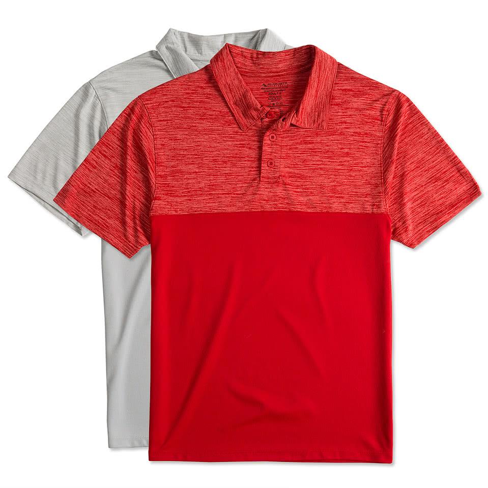 Design custom embroidered augusta tonal heather for Custom t shirts canada no minimum