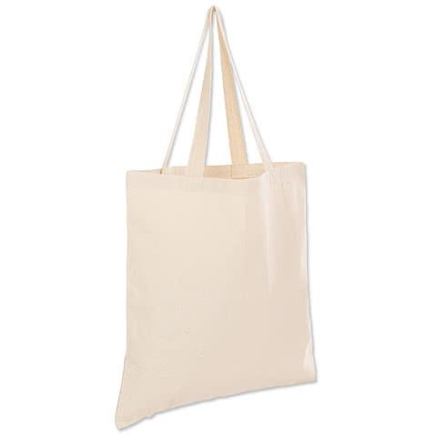 Medium Midweight 100% Cotton Canvas Tote Bag