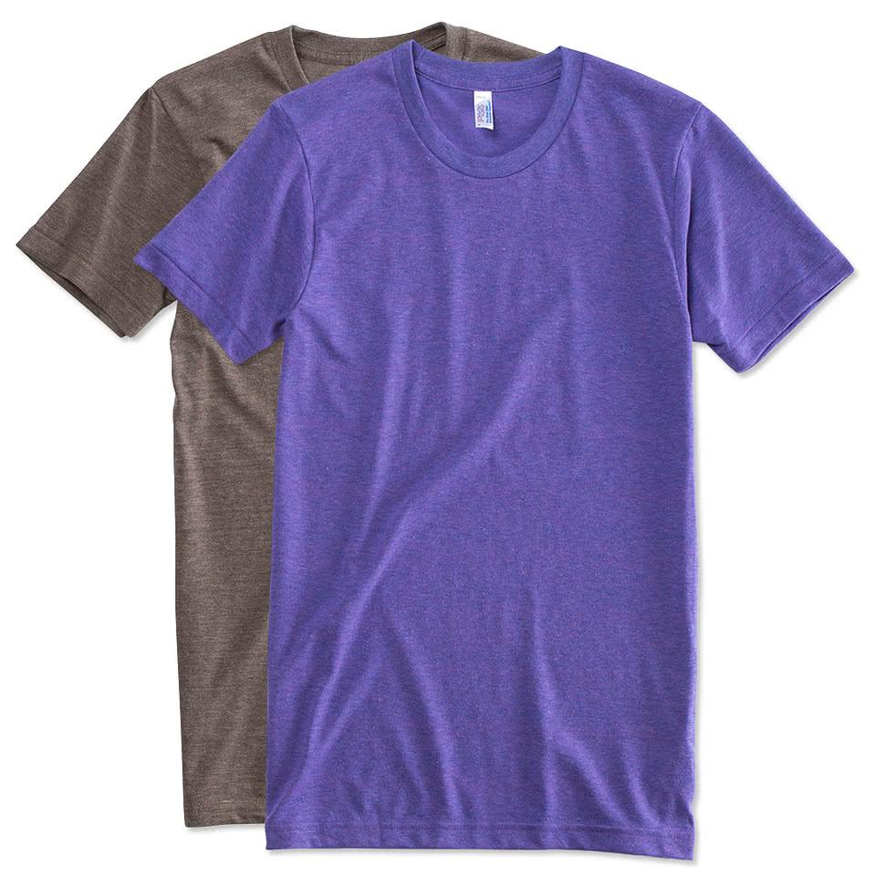 Custom american apparel tri blend t shirt design short for Custom t shirts online