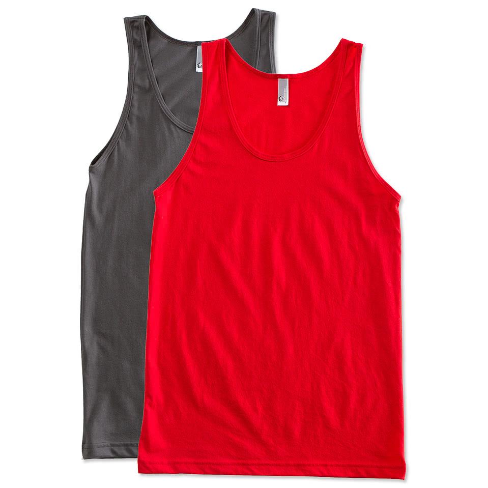 Custom american apparel 50 50 tank design tank tops for Custom t shirts canada no minimum