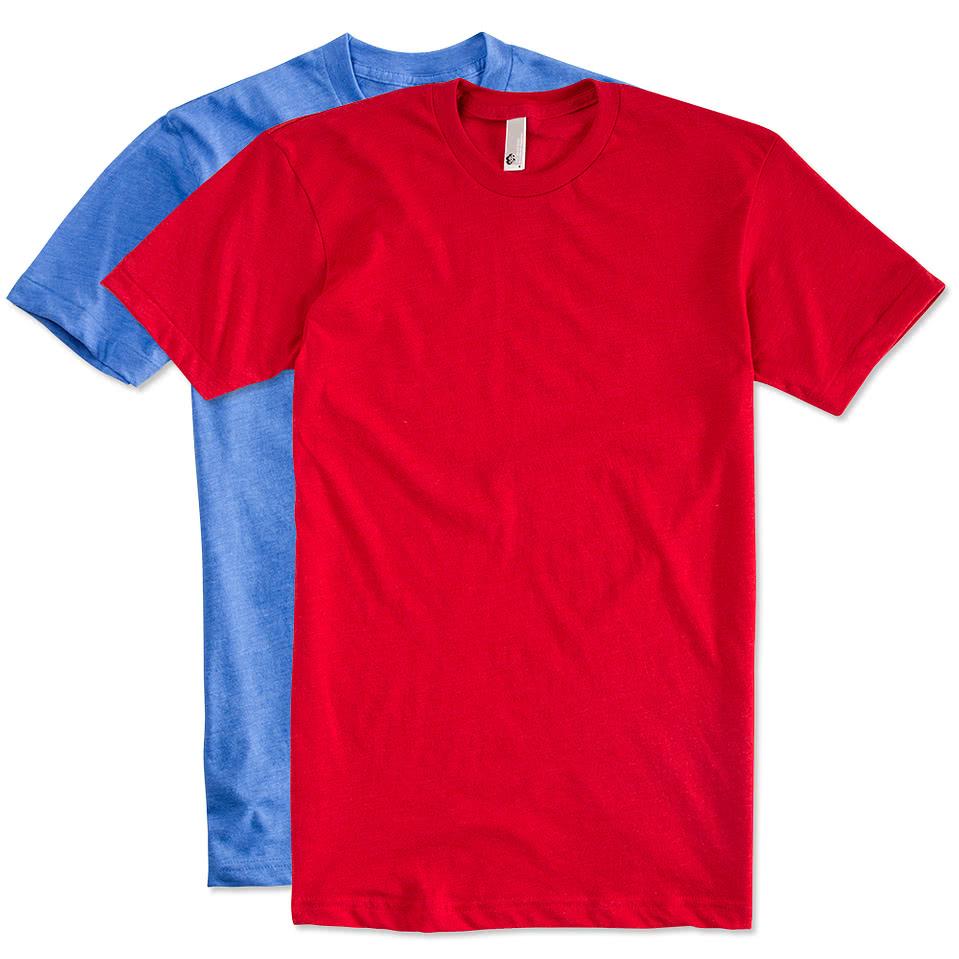 Design custom printed american apparel 50 50 t shirts for Custom t shirts canada no minimum