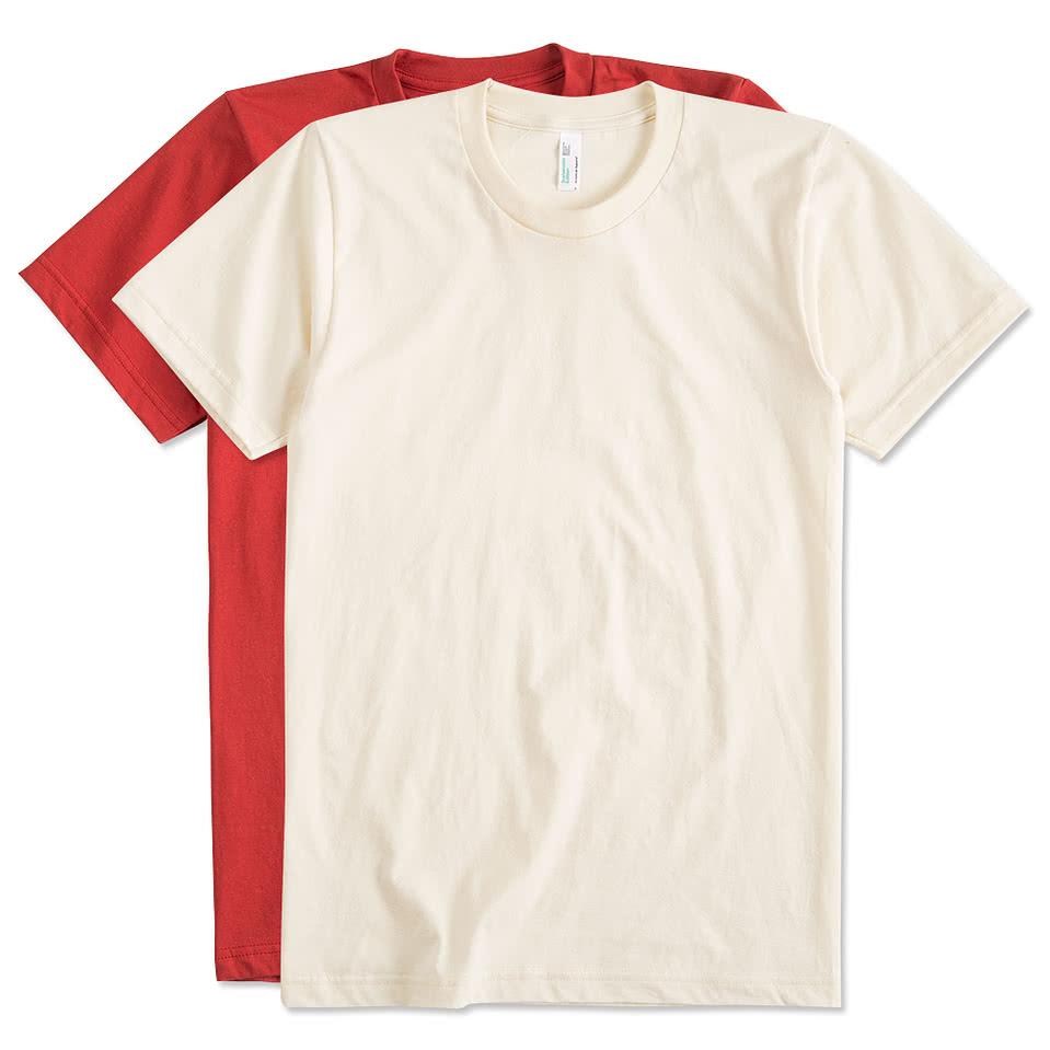Design custom printed american apparel organic jersey t for Organic custom t shirts