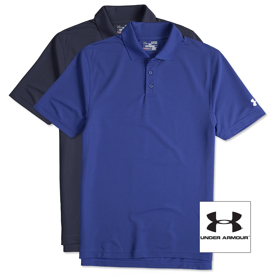Design custom printed under armour performance polo for Under armour embroidered polo shirts