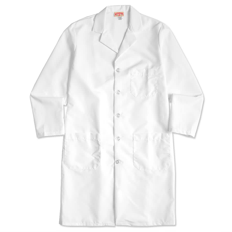 Design Custom Embroidered Red Kap® Full Button Lab Coats ...