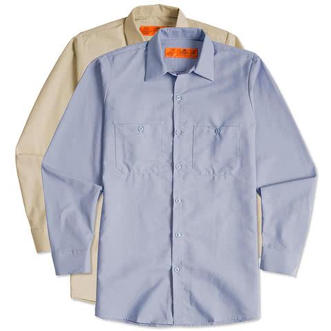 Red Kap® Long Sleeve Industrial Work Shirt