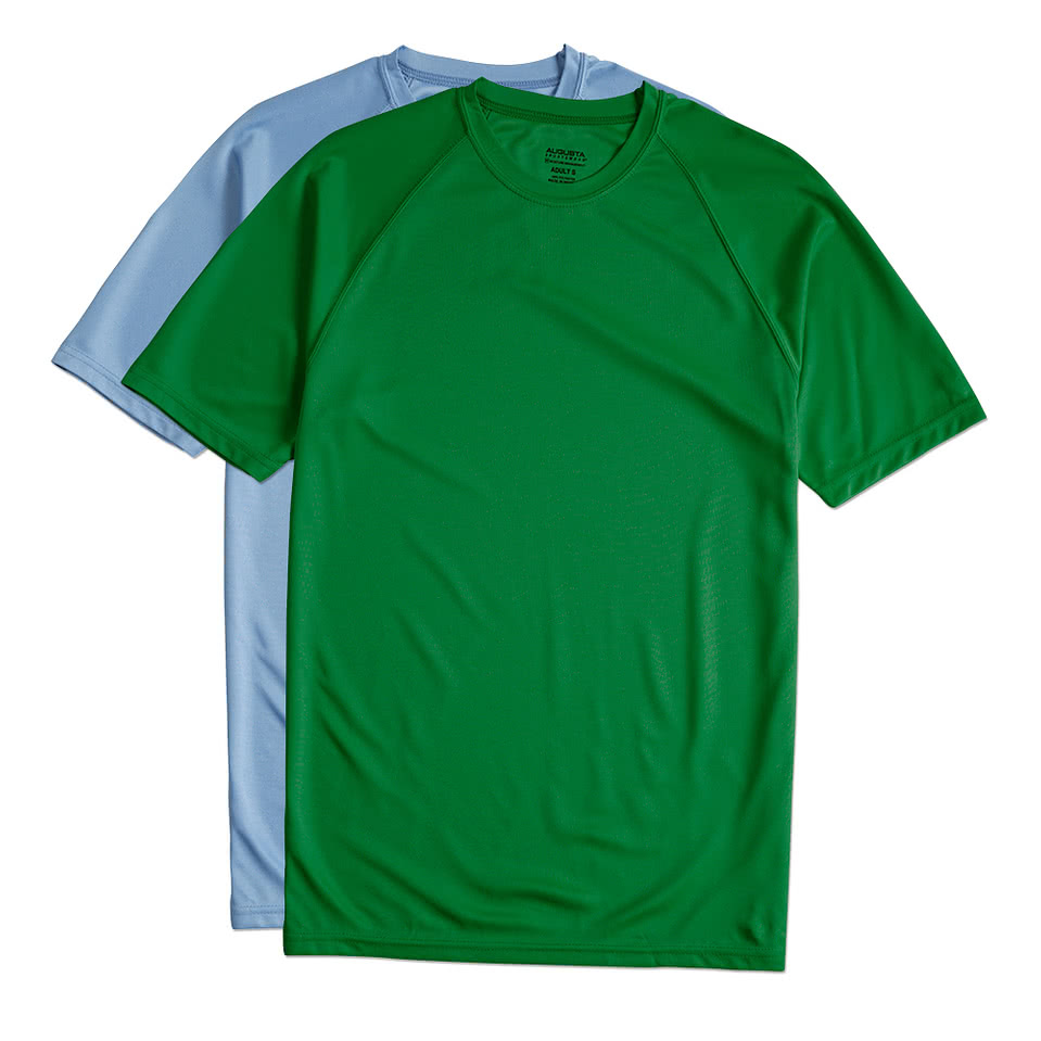 Design custom printed augusta attain raglan performance for Custom printed performance shirts