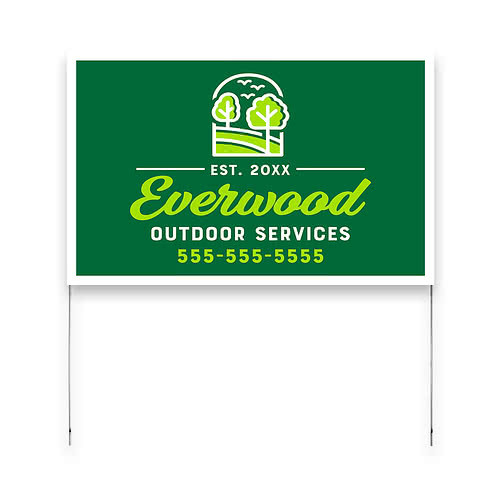 Full Color 22 x 14 Poster Yard Sign with Metal Frame