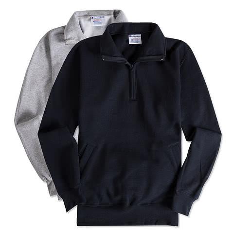 Champion Double Dry Eco Quarter Zip Pullover Sweatshirt