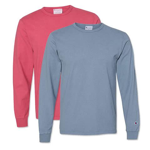 Champion Garment Dyed Long Sleeve T-shirt