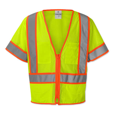 Kishigo Class 3 Pocket Mesh Safety Vest