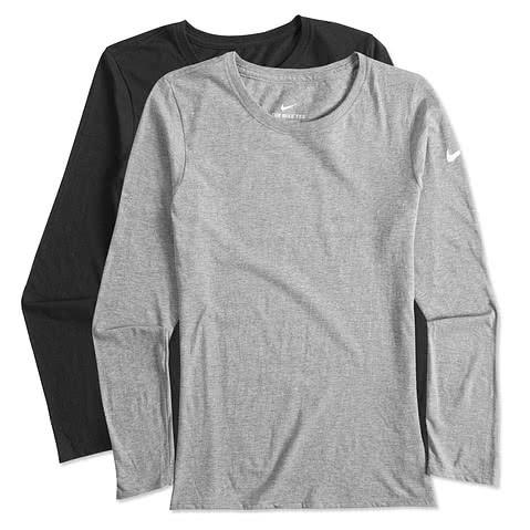 Nike Womens 100% Cotton Long Sleeve T-shirt