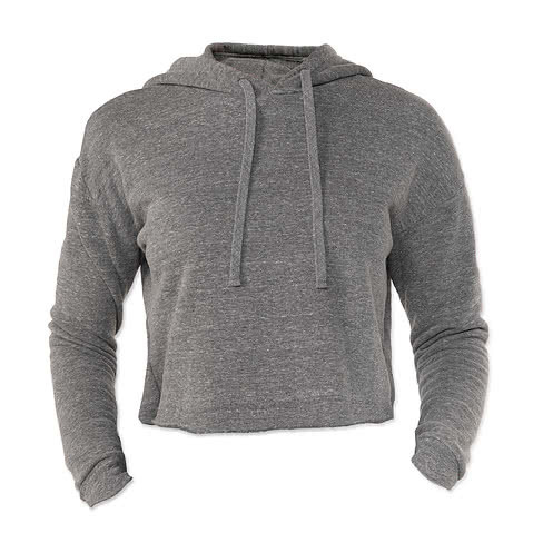Royal Apparel Womens USA-Made Eco Tri-Blend Cropped Hoodie
