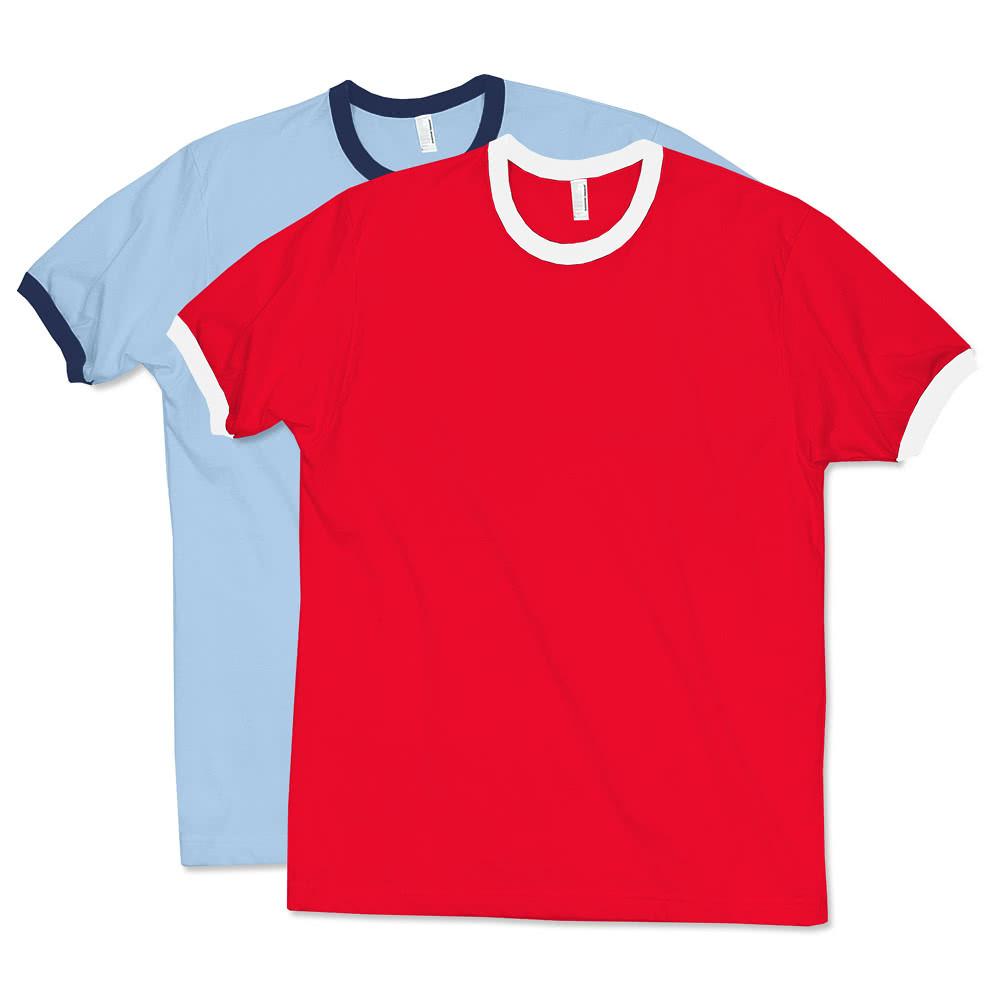 Design Custom Printed American Apparel Ringer T Shirts